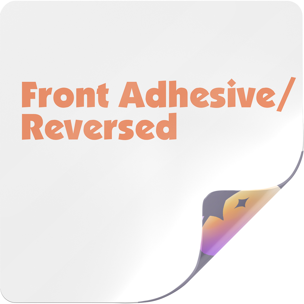 Front Adhesive Sticker